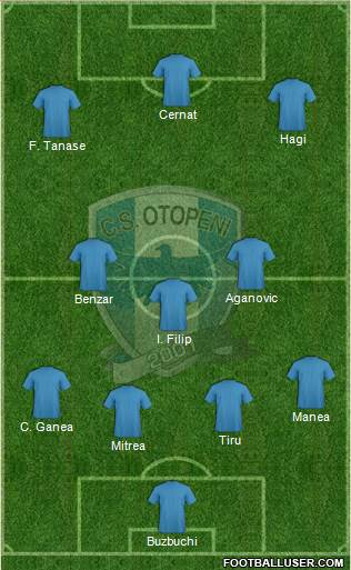 CS Otopeni 4-1-3-2 football formation