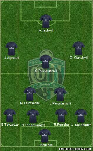 Dinamo Tbilisi 4-2-3-1 football formation