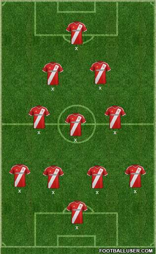 Middlesbrough 4-3-2-1 football formation
