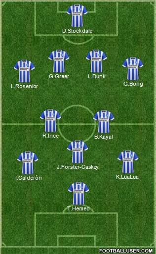 Brighton and Hove Albion 4-2-3-1 football formation