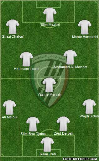 Club Sportif Sfaxien 5-4-1 football formation