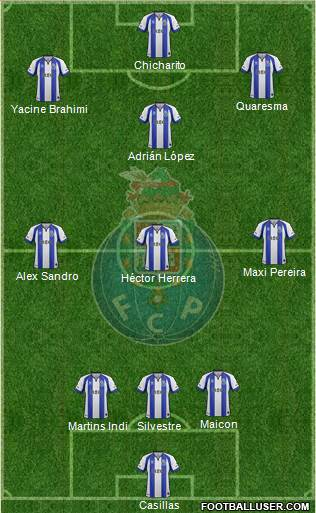 Futebol Clube do Porto - SAD 3-4-3 football formation