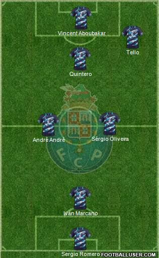 Futebol Clube do Porto - SAD 4-2-1-3 football formation