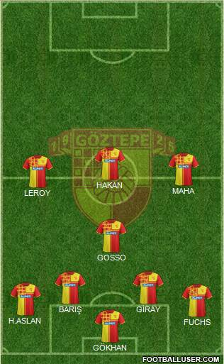 Göztepe A.S. 4-1-3-2 football formation