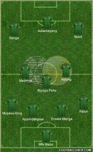 South Africa 4-1-3-2 football formation