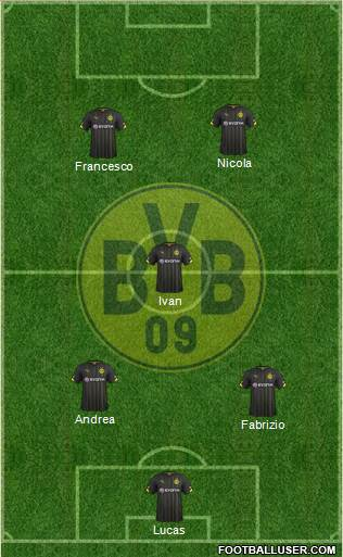 Borussia Dortmund 4-1-4-1 football formation
