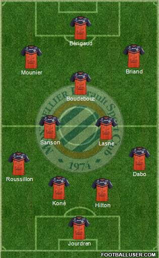 Montpellier Hérault Sport Club 4-2-3-1 football formation