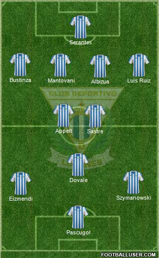 C.D. Leganés S.A.D. 4-2-3-1 football formation