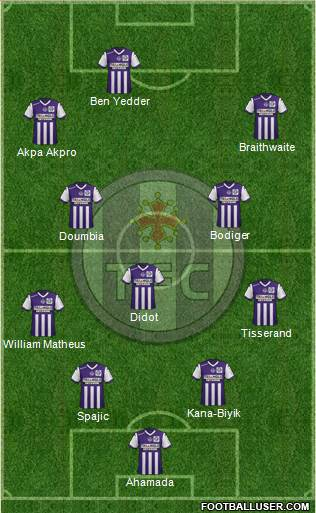 Toulouse Football Club 4-4-1-1 football formation