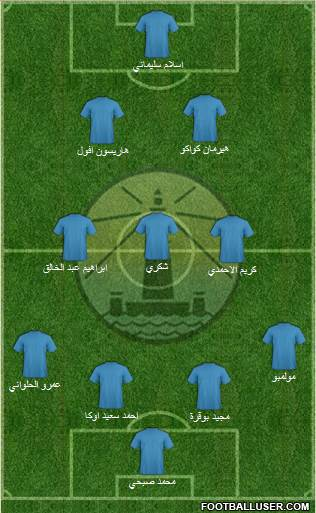 Olympic Alexandria 4-2-2-2 football formation