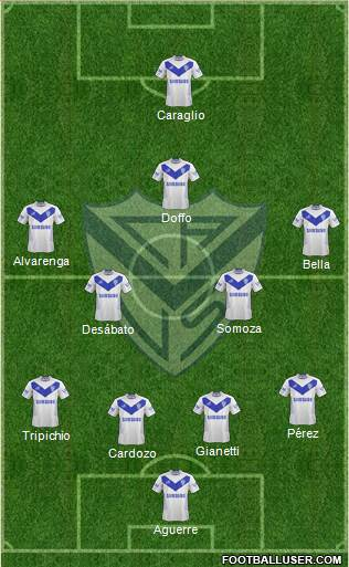 Vélez Sarsfield 4-2-3-1 football formation