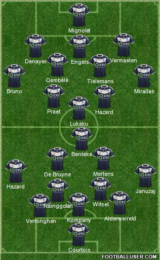 Melbourne Victory FC 3-4-2-1 football formation