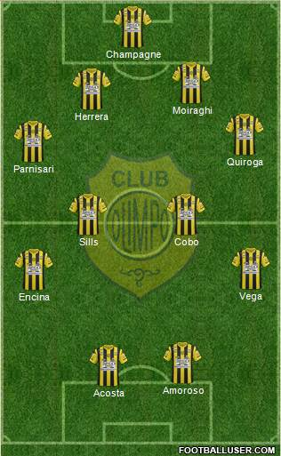 Olimpo de Bahía Blanca 4-4-2 football formation