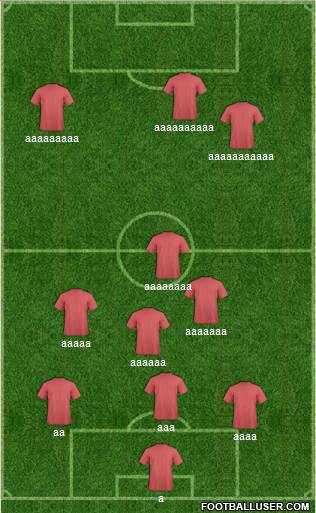 Fifa Team 3-4-1-2 football formation