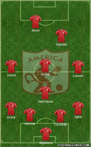CD América de Cali 4-1-4-1 football formation