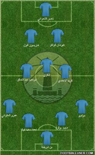 Olympic Alexandria 4-1-3-2 football formation