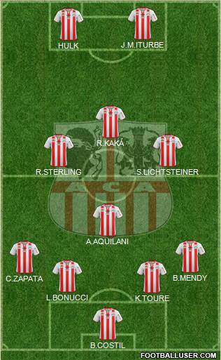 Athletic Club Ajaccien Football 4-4-2 football formation