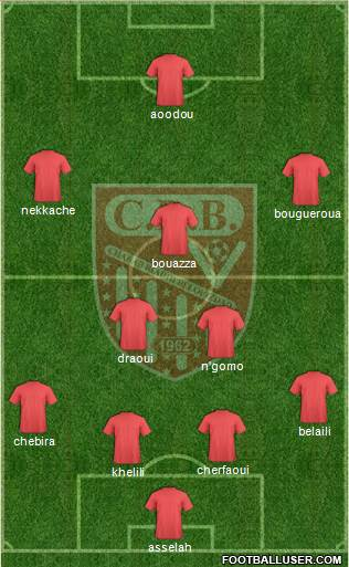 Chabab Riadhi Belouizdad 4-2-3-1 football formation