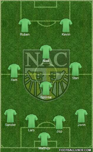 NAC Breda 4-3-3 football formation
