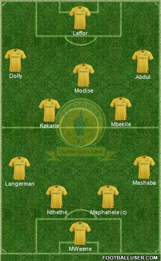 Mamelodi Sundowns 4-3-2-1 football formation