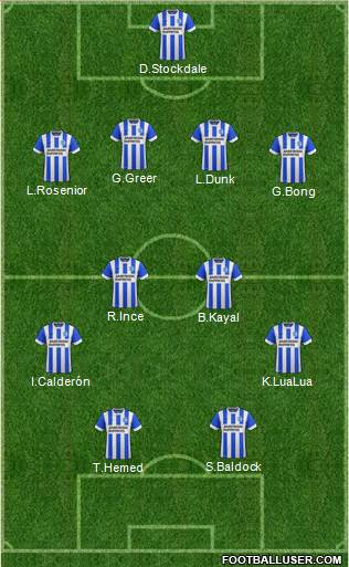 Brighton and Hove Albion 4-4-2 football formation