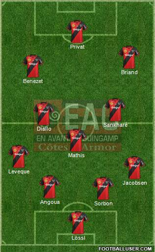 En Avant de Guingamp 3-4-3 football formation