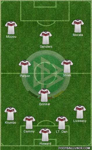 Germany 4-1-3-2 football formation