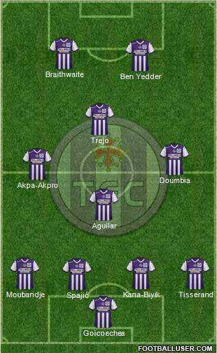 Toulouse Football Club 4-3-1-2 football formation