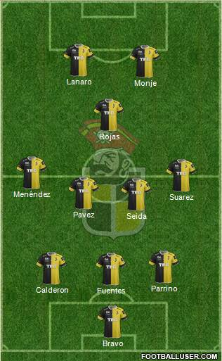 CD Coquimbo Unido S.A.D.P. 3-4-1-2 football formation