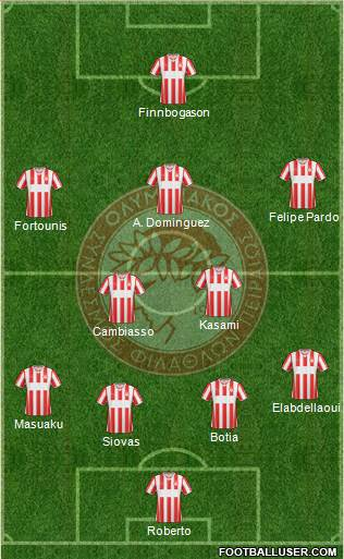 Olympiakos SF Piraeus 3-5-2 football formation