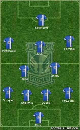 Lech Poznan 4-1-4-1 football formation