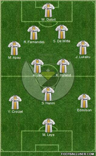 Sporting Lokeren OVl 4-2-3-1 football formation