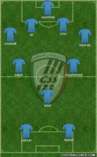 Club Sportif Sfaxien 4-4-2 football formation