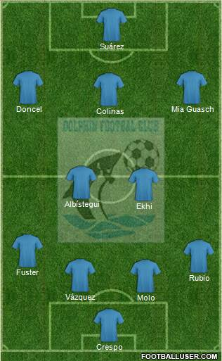 Dolphins FC Port-Harcourt 4-2-3-1 football formation