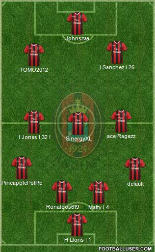 Virtus Lanciano 4-3-2-1 football formation