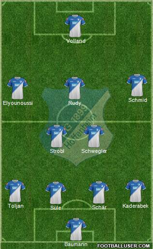 TSG 1899 Hoffenheim 4-5-1 football formation