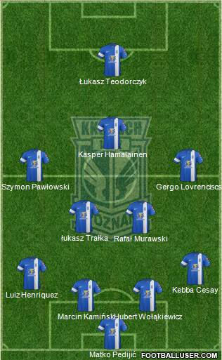 Lech Poznan 4-1-2-3 football formation