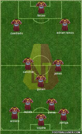 CC Deportes Tolima 3-5-1-1 football formation