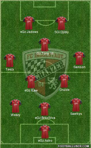 FC Ingolstadt 04 3-5-2 football formation