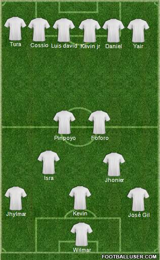 KF Ulpiana 4-5-1 football formation