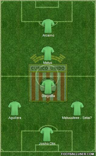 CD Provincial Curicó Unido 4-4-2 football formation