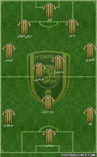 Al-Ittihad (KSA) 4-4-1-1 football formation