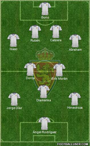 R. Zaragoza S.A.D. 4-2-3-1 football formation