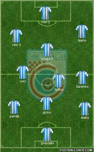 HNK Cibalia 4-2-4 football formation