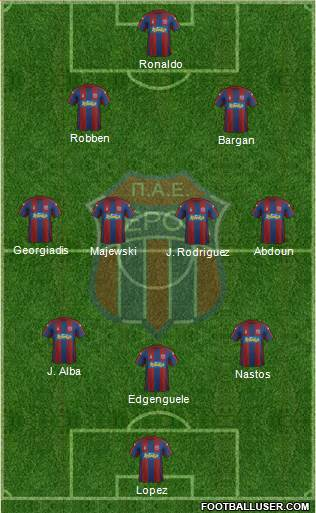 AS Veroia 3-4-3 football formation