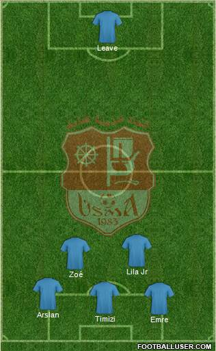 Union Sportive Madinet Annaba 4-4-2 football formation