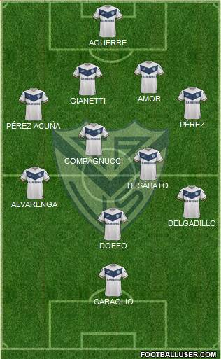 Vélez Sarsfield 4-4-1-1 football formation