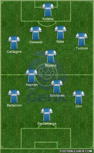 K Racing Club Genk 4-3-3 football formation