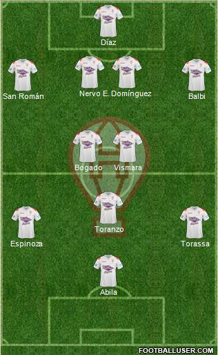 Huracán 4-2-3-1 football formation