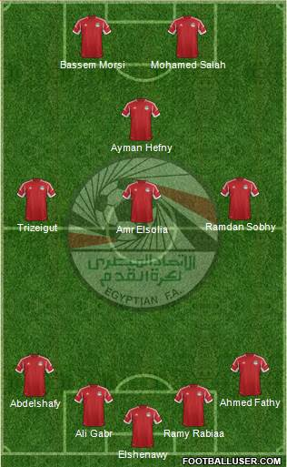 Egypt 4-3-1-2 football formation
